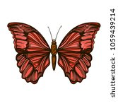 beautiful hand drawn butterfly. ... | Shutterstock .eps vector #1059439214