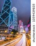 hong kong city at night ...   Shutterstock . vector #1059439835