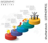 5 steps timeline infographic... | Shutterstock .eps vector #1059439931
