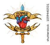 sword and human heart. girl... | Shutterstock .eps vector #1059440531