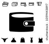 wallet raster icon in flat...