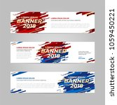 vector design banner web... | Shutterstock .eps vector #1059450221