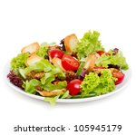 caesar salad isolated on white | Shutterstock . vector #105945179