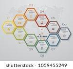10 steps infographic element....   Shutterstock .eps vector #1059455249