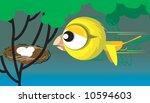 illustration of a bird flying... | Shutterstock . vector #10594603