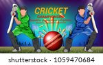 cricket  concept of sportsman... | Shutterstock .eps vector #1059470684
