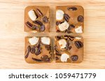 blondie cake with marshmallow...   Shutterstock . vector #1059471779