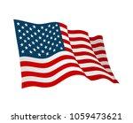 american flag. vector flat... | Shutterstock .eps vector #1059473621