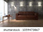 contemporary living room loft... | Shutterstock . vector #1059473867