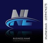 initial letter nl logotype...   Shutterstock .eps vector #1059474275