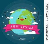 happy earth day vector... | Shutterstock .eps vector #1059474689
