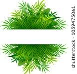 summer tropical leaves vector...   Shutterstock .eps vector #1059475061