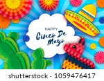 happy cinco de mayo greeting... | Shutterstock .eps vector #1059476417