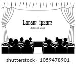people in the cinema on the... | Shutterstock .eps vector #1059478901