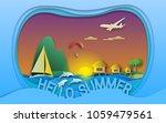 hello summer vector...   Shutterstock .eps vector #1059479561