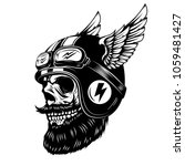 racer skull in winged helmet... | Shutterstock .eps vector #1059481427