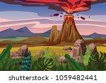 volcano eruption  background...   Shutterstock .eps vector #1059482441