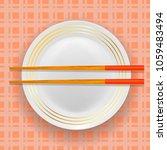 vector asian traditional wood... | Shutterstock .eps vector #1059483494