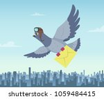mailing service with flying...   Shutterstock .eps vector #1059484415