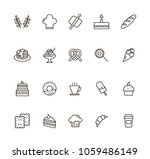 baked linear icons set. vector... | Shutterstock .eps vector #1059486149