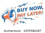 buy now  pay later  ... | Shutterstock .eps vector #1059486287