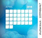 april 2018. calendar planner... | Shutterstock .eps vector #1059486467