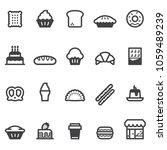 bakery icons 2018 | Shutterstock .eps vector #1059489239