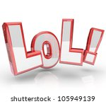 the abbreviation lol which... | Shutterstock . vector #105949139