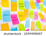 whiteboard covered with... | Shutterstock . vector #1059498407