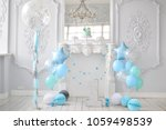 one year birthday decorations.... | Shutterstock . vector #1059498539