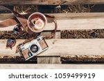 hello summer vacation top view. ... | Shutterstock . vector #1059499919