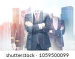 three unrecognizable confident... | Shutterstock . vector #1059500099