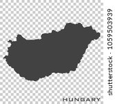 vector icon map of hungary on...   Shutterstock .eps vector #1059503939