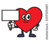 cartoon heart character holding ... | Shutterstock .eps vector #1059505685