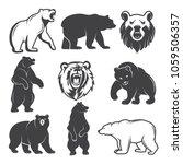 monochrome illustrations of... | Shutterstock .eps vector #1059506357