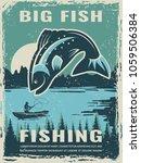 retro poster of fisherman club... | Shutterstock .eps vector #1059506384