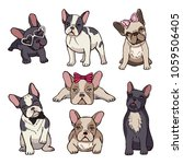 funny puppies of french bulldog....   Shutterstock .eps vector #1059506405