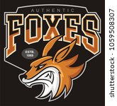 fox head mascot  vector... | Shutterstock .eps vector #1059508307