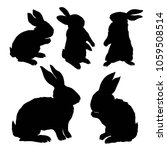 silhouette rabbit   illustration | Shutterstock . vector #1059508514