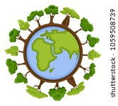 ecology concept with green eco... | Shutterstock .eps vector #1059508739