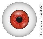 vampire eye icon. realistic... | Shutterstock .eps vector #1059509501