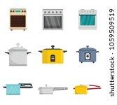 cooker oven stove pan burner... | Shutterstock .eps vector #1059509519