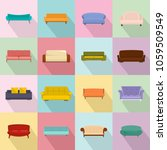 sofa chair room couch icons set.... | Shutterstock .eps vector #1059509549