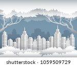illustration of cityscape in... | Shutterstock .eps vector #1059509729