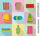 towel hanging spa bath icons...   Shutterstock .eps vector #1059510815