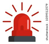 caution siren icon. flat... | Shutterstock .eps vector #1059512579