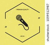 microphone icon symbol | Shutterstock .eps vector #1059512987