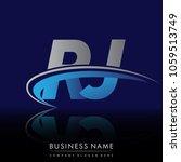 initial letter rj logotype...   Shutterstock .eps vector #1059513749
