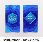 paper cut gift voucher from... | Shutterstock .eps vector #1059515747