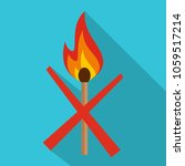no fire icon. flat illustration ... | Shutterstock .eps vector #1059517214